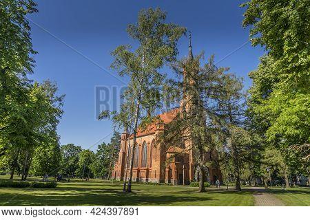 Druskininkai, Lithuania, June 20, 2021: Catholic Church In Druskininkai, Lithuania