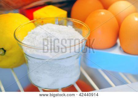 bicarbonate inside of fridge