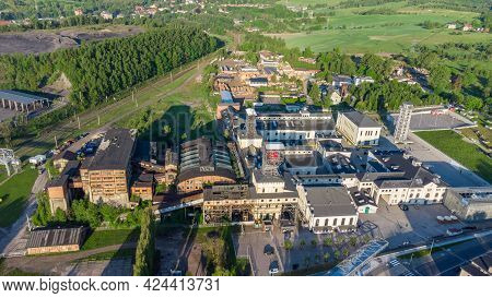 Top View Of Former Mine In The Town Of Walbrzych, Poland. Now Museum Of Industry And Technology Abou