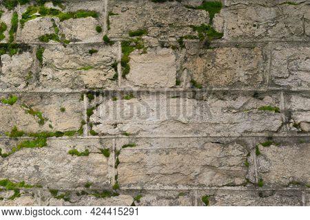 Background Of Stone Wall Texture Premium Photo