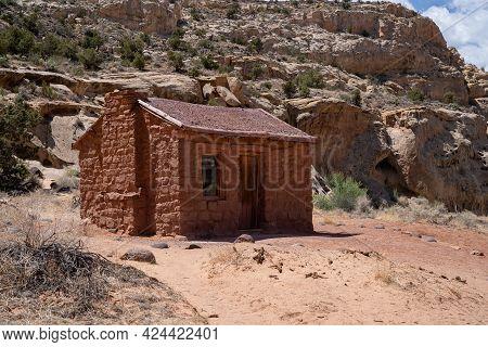 The Old Abandoned Behunin Cabin, Owned By Elijah Cutler Behunin, A Frontier Settler, In Capitol Reef