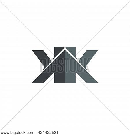 Letter Kk Building Simple Logo  Unique Unusual Brand Identity For Your Product Company