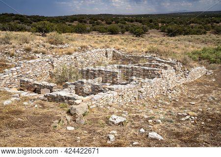 Gran Quivira Ruins, An Historical Spanish Missions At Salinas Pueblo Missions National Monument New