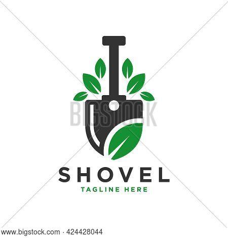 Natural Spade Leaf Illustration Logo Design Or Brand