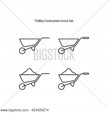 Trolley Construction Icon Isolated On White Background. Trolley Construction Icon Trendy And Modern