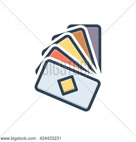 Color Illustration Icon For Cards Game Poker Casino Gambler Playing
