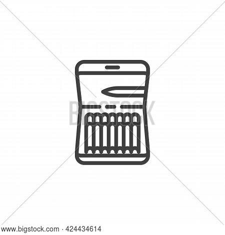Cigar Case Line Icon. Linear Style Sign For Mobile Concept And Web Design. Cigarette Case Outline Ve
