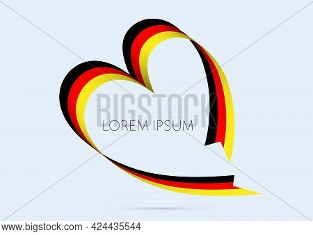 Heart Shape National Flag Of Germany Vector Illustration