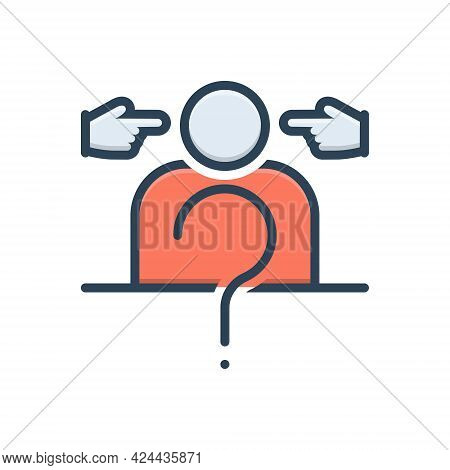 Color Illustration Icon For Impeach Incriminate Find-guilty Inculpate Blame