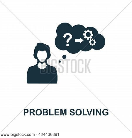 Problem Solving Icon. Monochrome Simple Element From Soft Skill Collection. Creative Problem Solving