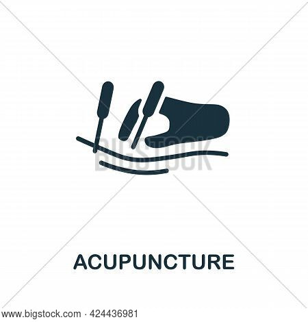 Acupuncture Icon. Monochrome Simple Element From Therapy Collection. Creative Acupuncture Icon For W