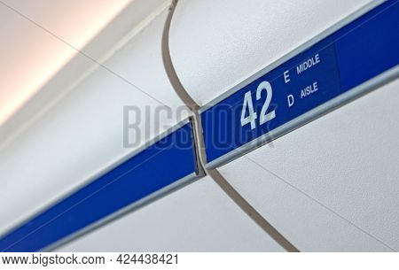 Hand-luggage Compartment In Airplane - Carry-on Luggage In Row 42