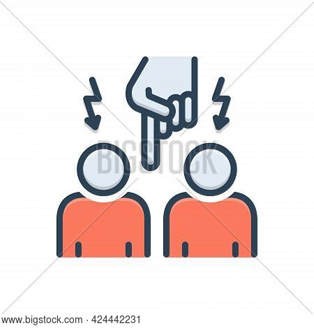 Color Illustration Icon For Interfere Interlope Admission Entrance Entry Penetration
