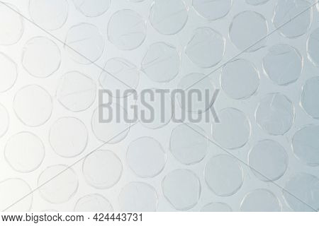 Plastic bubble wrap close up background