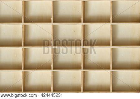 Wood Empty Shelving Box Closeup As A Backgrounde