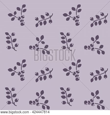 Seamless Vector Pattern With Blueberries. For Fabric, Paper Wrap Textile Poster Scrapbooking Wallpap