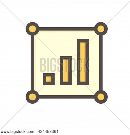Land Value Vector Icon. Consist Of  Land Plot, Vacant Area, Growth Graph Of Rate Market Price For In