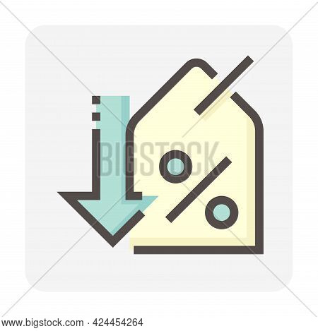 Discount Sale Or Price Tag Vector Design. That Icon, Sign Or Symbol To Offer Promotion, Special Pric
