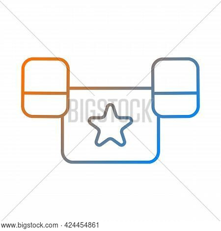 Puddle Jumper Gradient Linear Vector Icon. Keeping Child Safe In Swimming Pool And Sea. Outdoor Wate