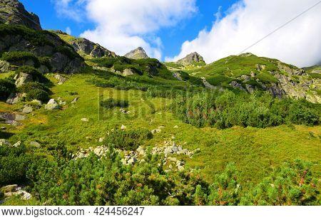 Mengusovska Valley, Vysoke Tatry (High Tatras), Slovakia. Mountain landscape in the Western Carpathians.