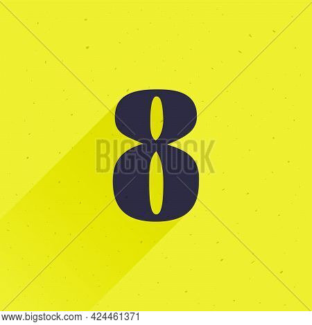Number Eight Logo For Your Fun And Happy Design Projects. You'll Get A Playful Sign For Fun Advertis