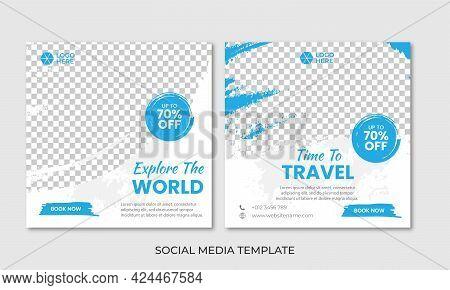 Traveling Social Media Post Banner Design Template