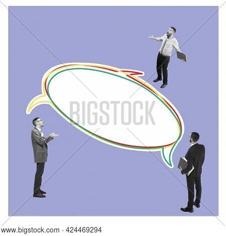 Young Astonished Man, Businessman, Finance Analyst Or Clerk In Business Clothes Isolated On Abstract