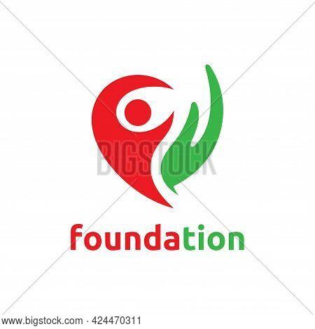 Foundation Logo Template Design Concept. Vector Illustration