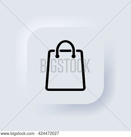 Shopping Bag Icon. Eco Paper Bag. Handbag Icon. Elements For Mobile Concepts And Web Apps. Neumorphi