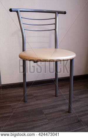 A Chair Without A Leg. Broken Chair. Furniture In A Rented Apartment. Low Quality Furniture. Cheap A