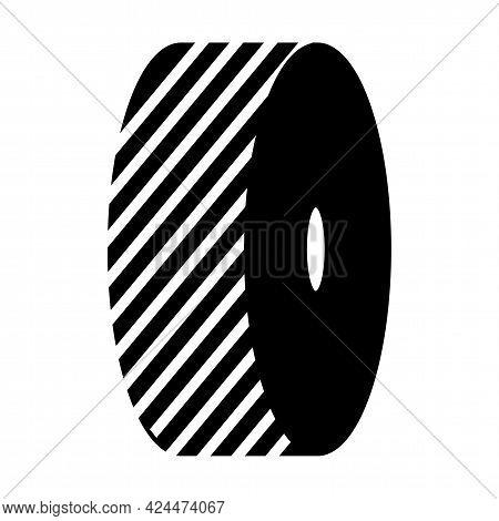Change Grinding Wheels Symbol Sign On White Background