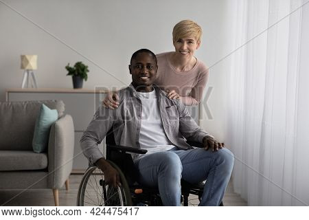 Rehabilitation Clinic And Patient Care, Home Nurse Or Multiracial Family