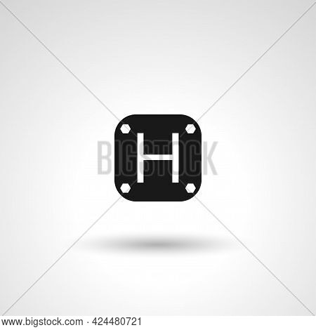 Hotel Signboard Sign. Hotel Isolated Simple Vector Icon