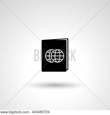 International Passport Sign. Passport Isolated Simple Vector Icon