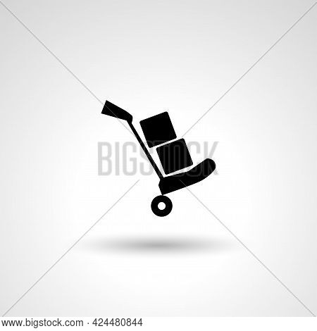 Luggage Trolley Sign. Luggage Isolated Simple Vector Icon