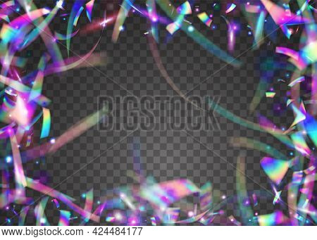 Birthday Glitter. Festive Art. Glamour Foil. Bokeh Tinsel. Viole