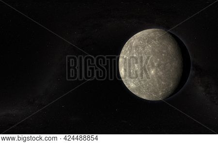 The Mercury Planet In The Milky Way, Solar System, Galaxy Science Creative Art Background Elements O