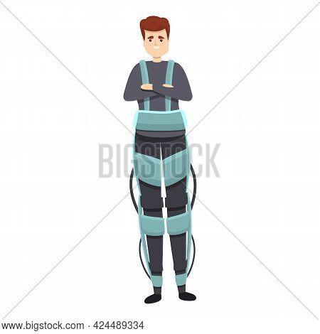 Rehabilitation Exoskeleton Icon. Cartoon Of Rehabilitation Exoskeleton Vector Icon For Web Design Is