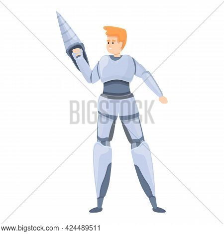 Solid Exoskeleton Icon. Cartoon Of Solid Exoskeleton Vector Icon For Web Design Isolated On White Ba