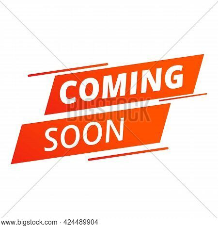 Coming Soon Sample Icon. Cartoon Of Coming Soon Sample Vector Icon For Web Design Isolated On White