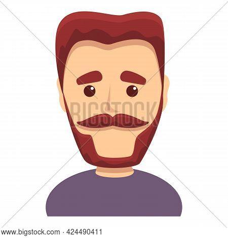 Man With Beautiful Beard Icon. Cartoon Of Man With Beautiful Beard Vector Icon For Web Design Isolat