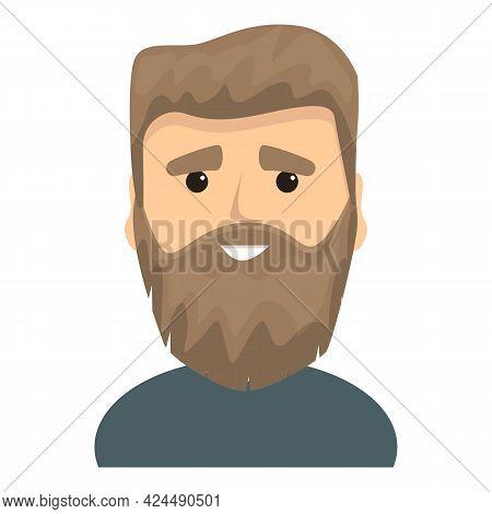 Fashionable Bearded Man Icon. Cartoon Of Fashionable Bearded Man Vector Icon For Web Design Isolated