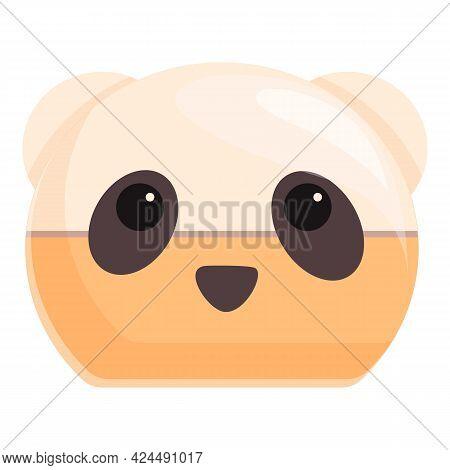 Korean Bear Cream Icon. Cartoon Of Korean Bear Cream Vector Icon For Web Design Isolated On White Ba