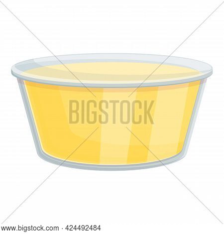 Takeaway Cheese Sauce Icon. Cartoon Of Takeaway Cheese Sauce Vector Icon For Web Design Isolated On