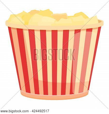 Takeaway Popcorn Icon. Cartoon Of Takeaway Popcorn Vector Icon For Web Design Isolated On White Back