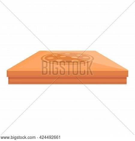 Takeaway Pizza Box Icon. Cartoon Of Takeaway Pizza Box Vector Icon For Web Design Isolated On White