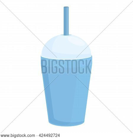 Takeaway Lemonade Icon. Cartoon Of Takeaway Lemonade Vector Icon For Web Design Isolated On White Ba