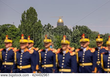 Bucharest, Romania - June 10, 2021: Construction Site Of