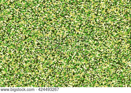 Abstract Background With Bright Green Camouflage Pattern