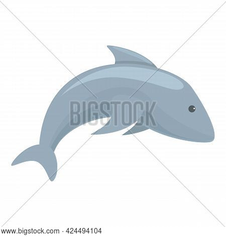 Dolphin Icon. Cartoon Of Dolphin Vector Icon For Web Design Isolated On White Background